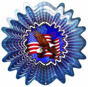Iron Stop NDA142-10 10-Inch Animated Patriotic Wind Spinner