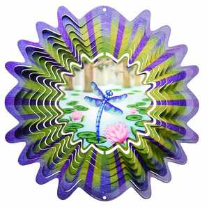 Iron Stop NDA170-10 10-Inch Animated Dragonfly Wind Spinner