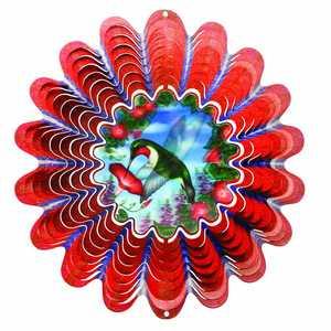 Iron Stop NDA250-10 10-Inch Animated Hummingbird Wind Spinner
