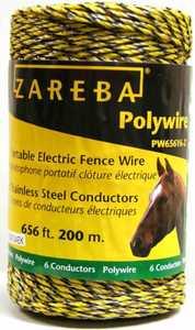 Zareba PW656Y6-Z Fence Wire 200mtr 6 Strand Poly