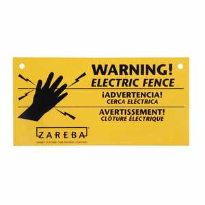 Zareba WS100 4x8 Electric Fence Warning Sign 10/Bg