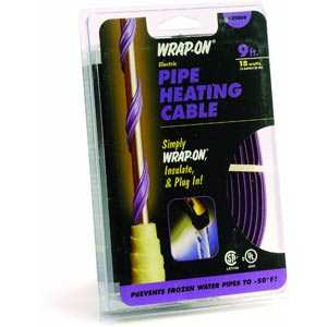 Wrap-On Company 31009 Pipe Heating Cable With Thermostat 9 ft