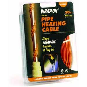 Wrap-On Company 31030 Pipe Heating Cable With Thermostat 30 ft