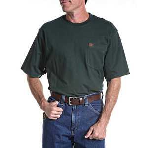 Wrangler 3W700FG 2x-Large Tall Riggs Workwear Short Sleeve Pocket T-Shirt