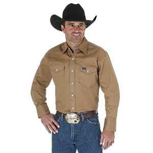 Wrangler MS71519 Cowboy Cut Firm Finish Long Sleeve Work Western Shirt Lr