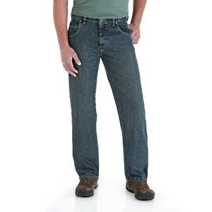 Wrangler 31000MT 34x32 Rugged Wear Relaxed Fit Mid Rise Jean