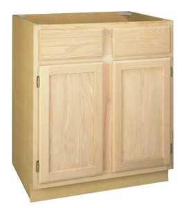 Zee Mfg B36OA 36 in Unfinished Oak Base Cabinet