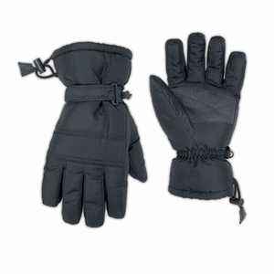 Custom Leathercraft 2077L Large Black Nylon Light-Duty Ski Gloves