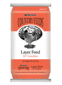 Nutrena 95172 Country Feeds Layer 16% Crumbles 50 Lbs.