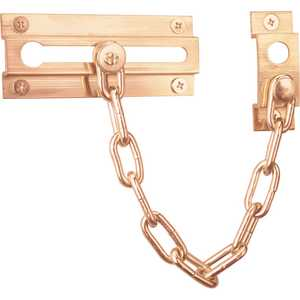 Prime Line Products U 9907 3-5/16-Inch Solid Brass Chain Door Guard