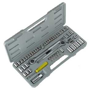 ATE Pro Tools 50064 Socket Set With 2 Rachets 52-Piece