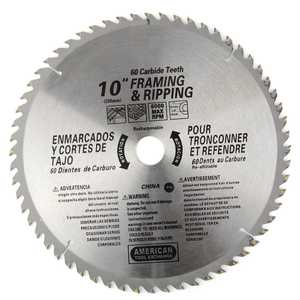ATE Pro Tools 33016 10-Inch X 60-Tooth Carbide Saw Blade