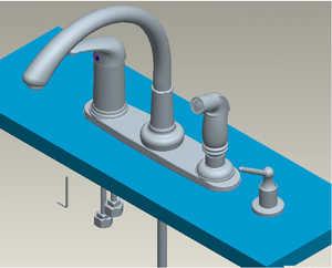 Flo Control Faucets TQF87B4501CP High Rise Kitchen Faucet Chrome