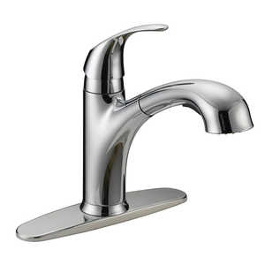 Flo Control Faucets 8644759 One Handle Pull-Out Kitchen Faucet Chrome