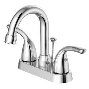 Flo Control Faucets F5111080CP 2-Handle Chrome Hi Arc Lavatory Faucet
