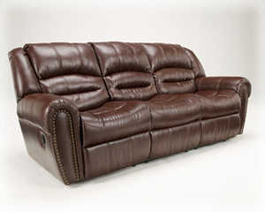Signature Design By Ashley 5480188 Wesley Reclining Sofa In Sienna