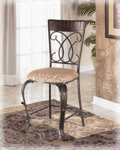 Signature Design By Ashley D345-124 Upholstered Barstool (2/Cn)