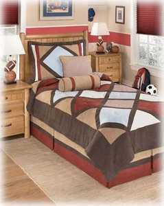 Signature Design By Ashley Q292001T Academy 5-Piece Twin Comforter Set