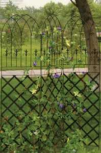 Panacea 89660 Gothic Garden Screen Black 72 in x60 in