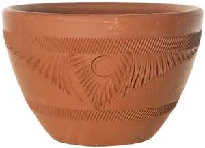 New England Pottery 15775 Torpedo Pot Rustic Terra Cotta 12.5 in