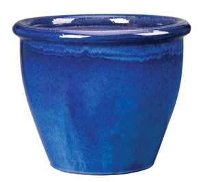 New England Pottery 100013911 Algebra Pot Imperial Blue 9.75 in