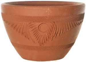 New England Pottery 15776 Torpedo Pot Rustic Terra Cotta 15.5 in