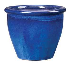New England Pottery 100013910 11-3/4-Inch Imperial Blue Algebra Pot
