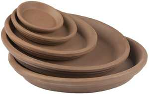 New England Pottery 260138 8-Inch Good Earth Clay Plant Saucer