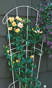 Panacea 89077 Garden Fan Trellis White 60 in