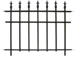 Panacea 87103 Classic Finial Section Black 30 in x37 in