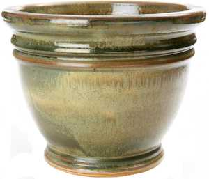 New England Pottery 30142152 12-Inch Ice Green Italy Pot
