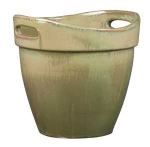New England Pottery 100019751 7-Inch Wasabi Honey Planter