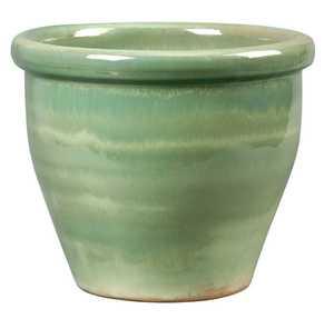New England Pottery 100013913 15-Inch Ice Green Algebra Pot