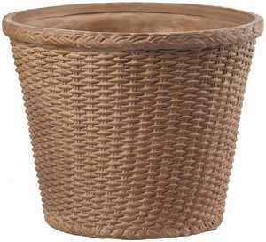 New England Pottery 100019239 Wicker Weave Vasum Good Earth 5.75 in