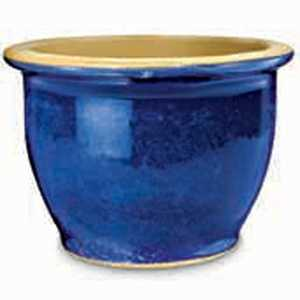 New England Pottery 31040 12-Inch Imperial Blue Pickle Pot