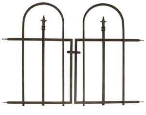 Panacea 87231 Arched Finial Gate Brushed Bronze 27 in x37 in