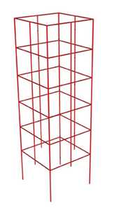 Panacea 89764 4-Panel Heavy Duty Tomato Tower Red 47 in