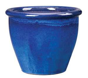 New England Pottery 100013991 Algebra Pot Imperial Blue 18 in