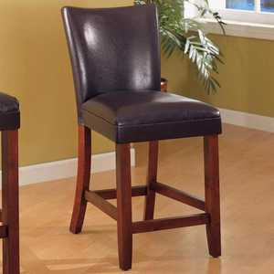 Coaster 100358 Telegraph 24 in Faux Leather Bar Stool
