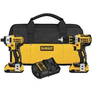 DeWalt DCK281D2 20v Max Xr Lithium Ion Brushless Compact Drill /Driver & Impact Driver Combo Kit
