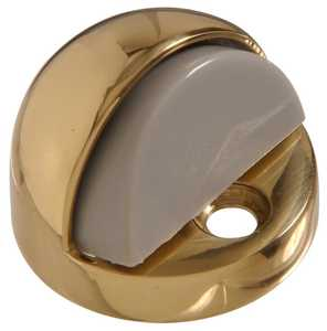 Hillman 852381 Solid Brass/Bright Brass High Dome Floor Door Stop