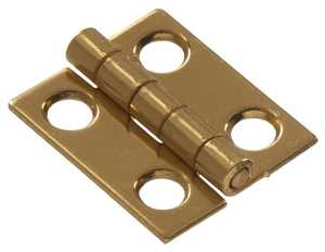 Hillman 852078 1-1/2 in Solid Brass/Bright Brass Narrow Hinge