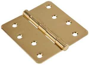 Hillman 852788 4 in Residential Door Hinge Brass Plated