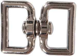 Hillman 321542 Nickel Plated Double Strap Swivel Eyes