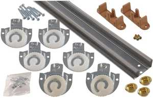 Hillman 852955 96 in By-Pass Door Set With Dial Hangers - Galv.