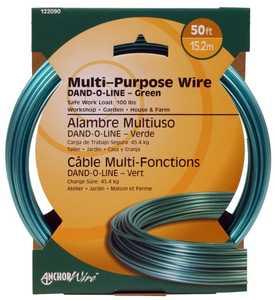 Hillman 122090 Dand-O-Line Green Fiber Core Wire