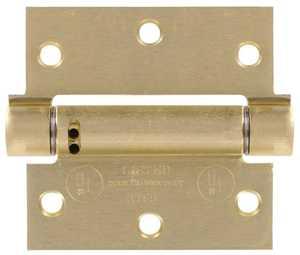 Hillman 852547 4 in - Square Corner Satin Brass Spring Hinges - Adjustable