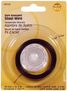 Hillman 123122 24 Gauge - Dark Annealed Wire