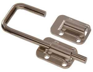 Hillman 852218 2-1/2 in Nickel Plated Sliding Door Latch