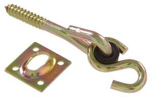Hillman 851861 Zinc & Yellow Dichromate Swing Hook Kits With Lag Screws